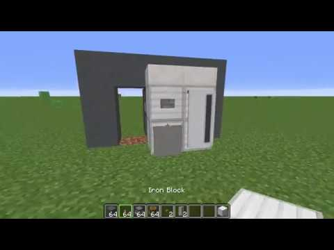 How To Build A Fridge In Minecraft Youtube
