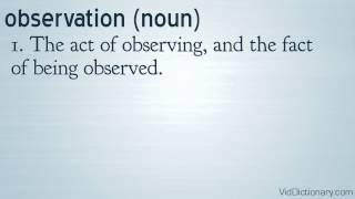 observation - definition