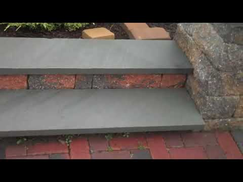 how to make paver block steps