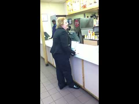 Crazy lady at Wendy's!!