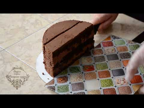 Как нарезать высокий торт