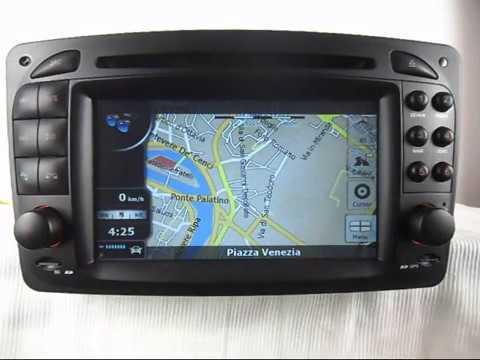 car dvd player gps navigation for mercedes benz clk-class c208