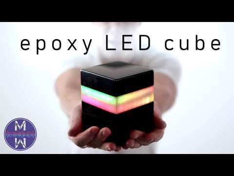 diy EPOXY LED cube lamp w/ WIRELESS charging