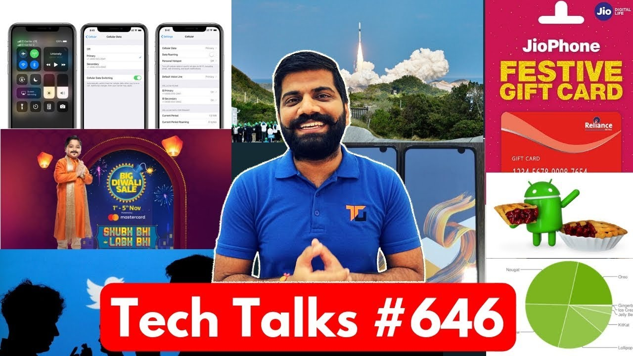 Tech Talks #646 - OnePlus 6T Unboxing, iPhone Dual SIM, Zenfone 6 Camera, Flipkart Diwali sale