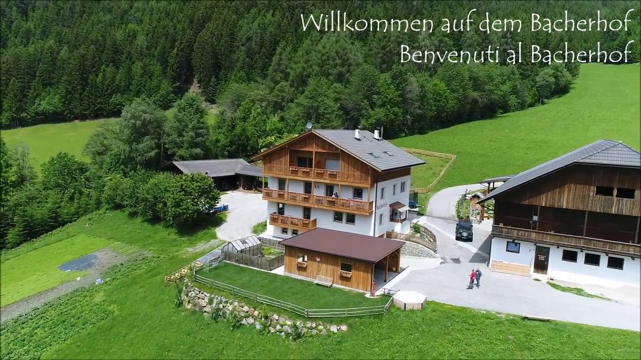 Bacherhof Bauernhofurlaub In Lusen Sudtirol Agriturismo Youtube