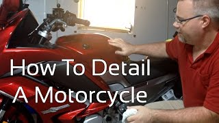How To Detail A Motorcycle Using Claybar Polish And Wax