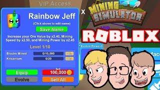 *NEW* PET LEVELING UPDATE | Roblox Mining Simulator | Codes & VIP | Live Stream