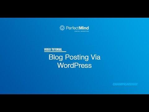 WP Blog Posting