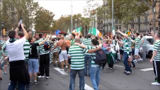 Celtic, Football club supporters in Barcelona - A trip into the crowd