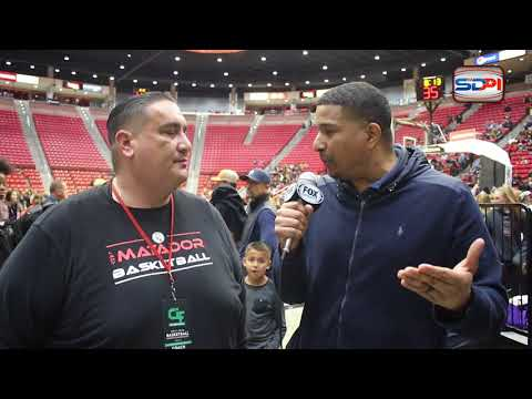 San Diego Girls Basketball: Post game interview with Robbie Sandoval
