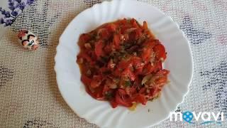 Сладкий перец жареный с луком )))