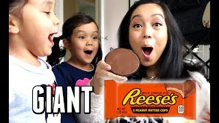 WE ATE A GIANT PEANUT BUTTER CUP! -  ItsJudysLife Vlogs