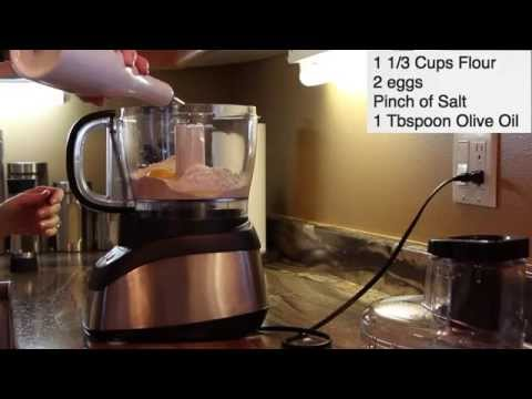 Making Pasta Dough with Food Processor-Use Pasta Machine & Ravioli with Rolling Pin