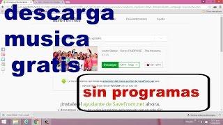 COMO DESCARGAR MUSICA GRATIS MP4 - sin programas
