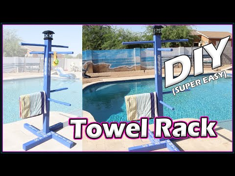 Outdoor Custom Towel Rack for Your Pool  | For Beginners | DIY
