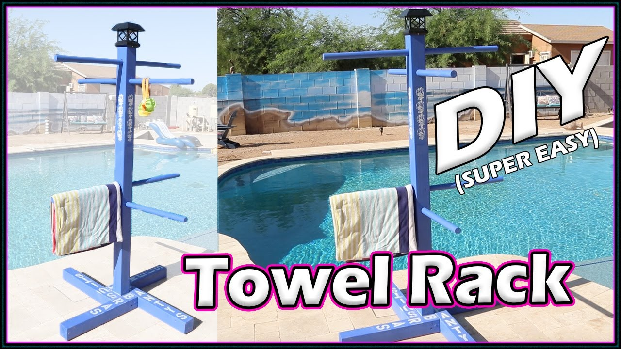 outdoor custom towel rack for your pool for beginners diy
