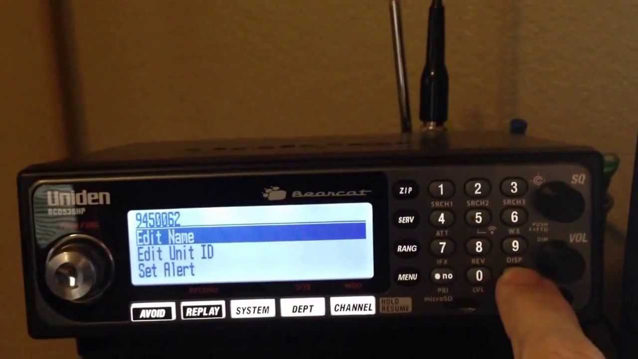 Download Uniden BCD536HP how to save Unit ID (UID)