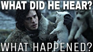 Download The Real Story Behind Jon Snow Discovering Ghost! - A Song of Ice and Fire (Theory Video) Mp3 and Videos