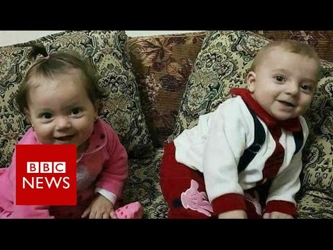 Syria chemical 'attack': Father mourns twins Aya and Ahmed - BBC News