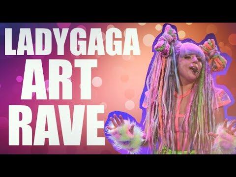 Lady Gaga en la presentación de ArtRave