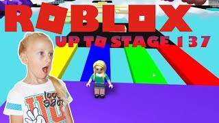 Roblox Mega Fun Obby Up to Stage 137(JUMPING Through STAGES in MEGA FUN OBBY!) Gameplay