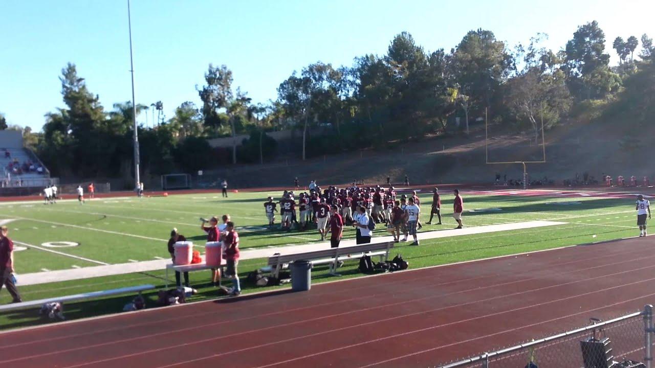 My Son 1st Game Rancho Buena Vista Football Youtube