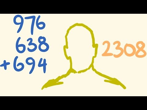 Mental Addition Trick - Add large numbers rapidly