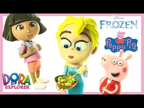 peppa pig toys - peppa pig toys in english - madame gazelle gets angry to peppa pig Frozen Elsa Dora