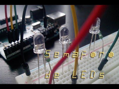 Arduino - Semáforo de leds | TechKrowd