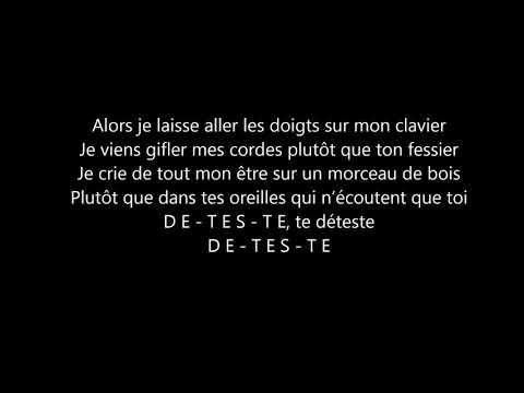 Vianney Je Te Déteste - Parole