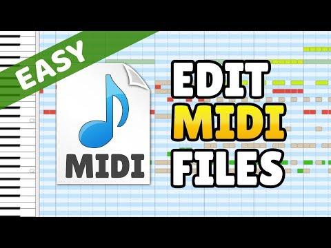 How To Edit MIDI Files - MIDI Editor Beginner Tutorial