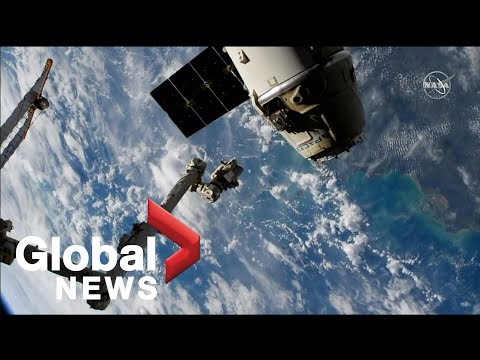SpaceX Dragon supply spacecraft departs from International Space Station
