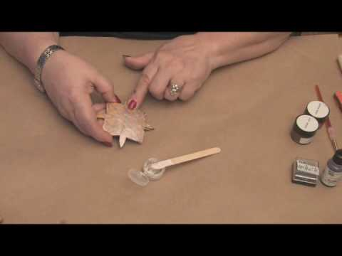 Maria Dellos Gourd Art- Protecting Wax - Accent Powder Part 1