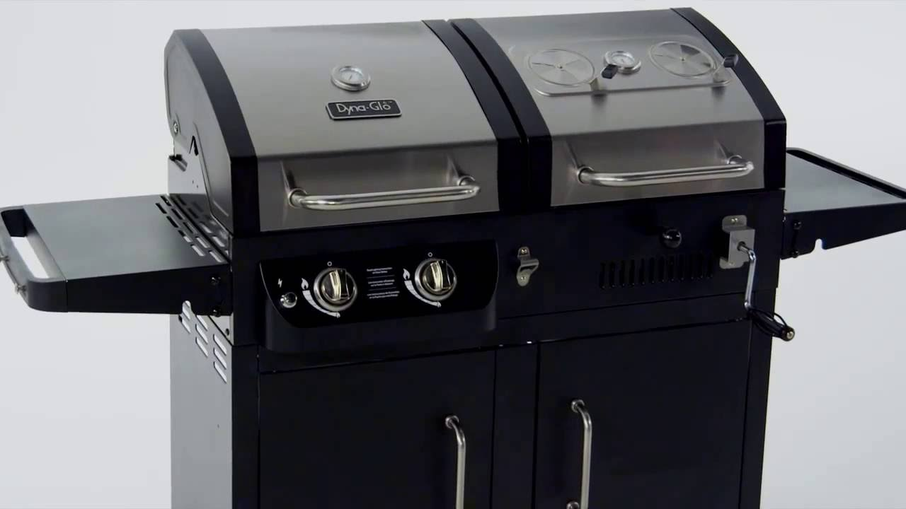 Review Of Dyna Glo Dgb730snb D Premium Dual Fuel Charcoal And Lp Gas Grill