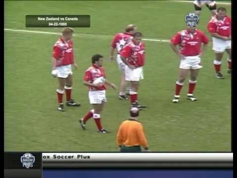 Canada vs NZ in a RWC 1995 warm up tour