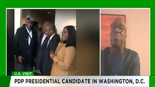 Segun Sowunmi speaks to TVC News on Atiku's visit to Washington, D.C.