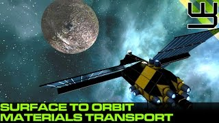 Space Engineers - Planet to Orbit Materials Transport (Planet - Space)