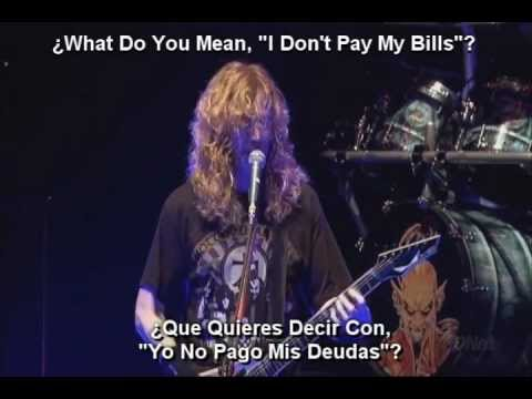 Megadeth - Peace Sells [Lyrics Y Subtitulado Al Español]