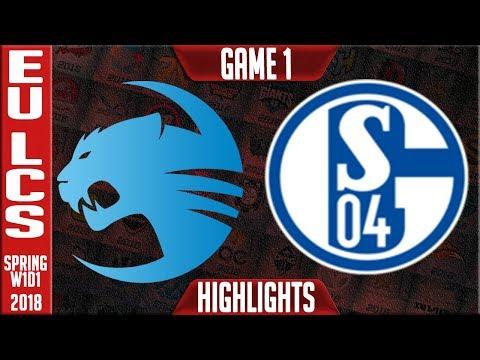 ROC vs S04 Highlights | EU LCS Spring 2018 W1D1 | Roccat vs Schalke 04