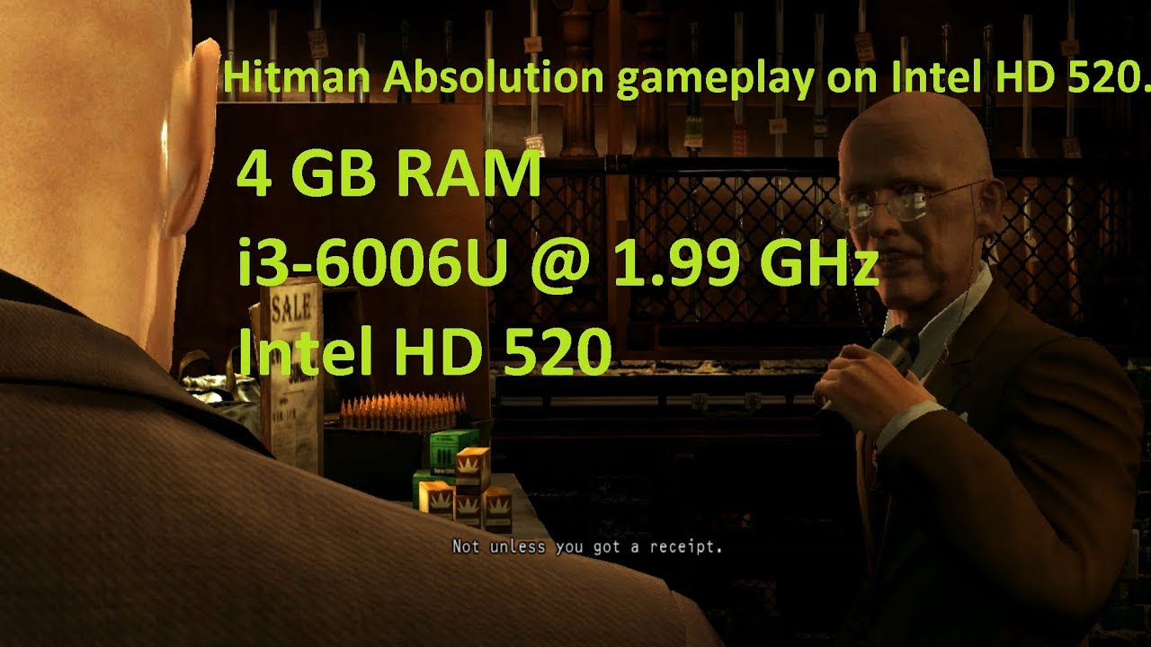 Hitman Absolution Professional Edition On Intel Hd 520 4 Gb Ram