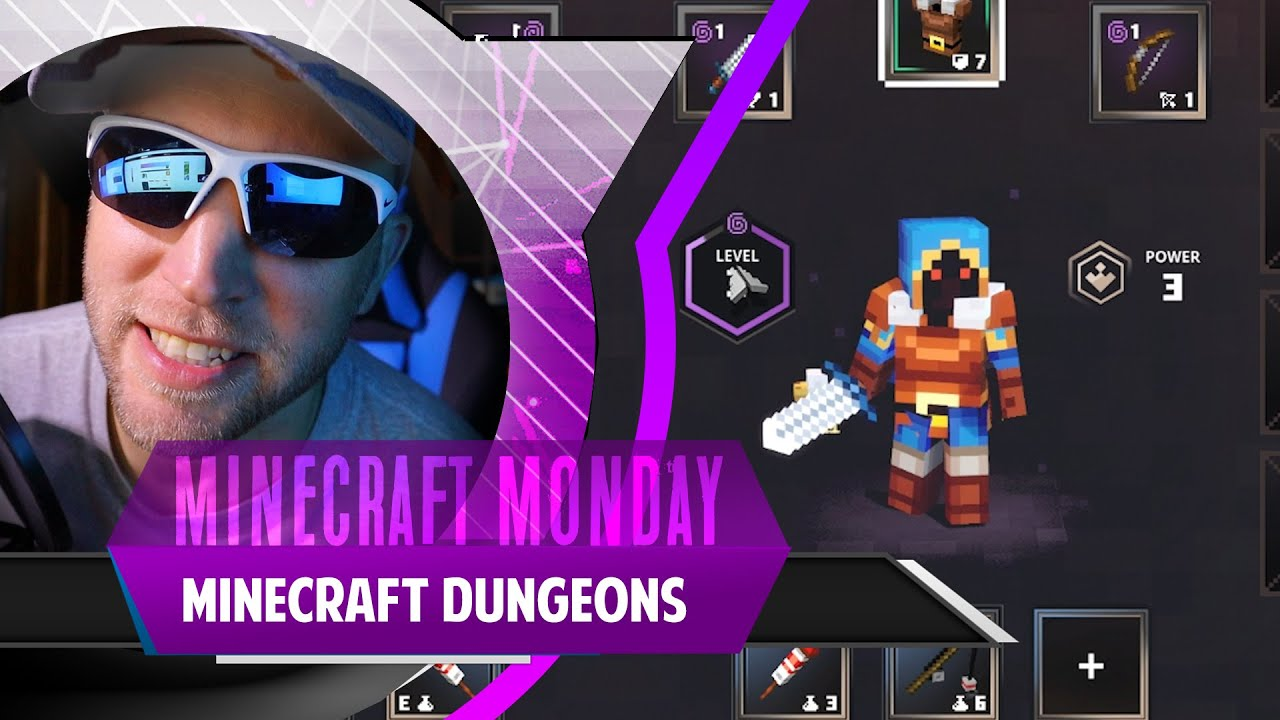 Minecraft Dungeons! DLC, New Skins! THIS GAME IS AWESOME! Minecraft Mondays!