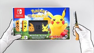 "Nintendo Switch ""PIKACHU EDITION"" Console Unboxing (Pokémon Let"