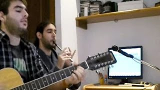 Set of untitled tunes on tin whistle and guitar