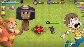 Most powerfull magical item in clash of clans !! Using hammer of heroes in clash of clans - coc