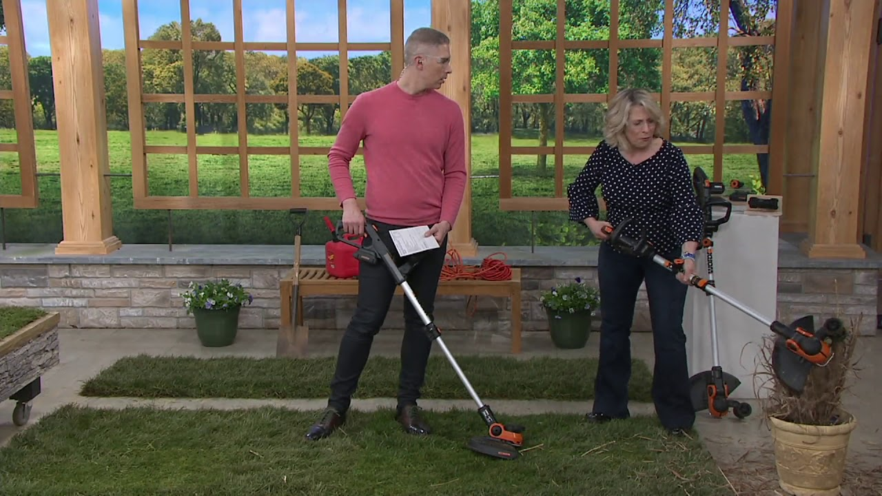 Worx 20v Cordless Trimmer With Accessories On Qvc