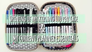 Opening Of My Kipling 100 Pen Case & My Current Planner/Agenda Essentials
