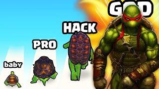 EVOLVING a BABY TURTLE to MAX LEVEL NINJA TURTLE in Ninja Turtle Evolve