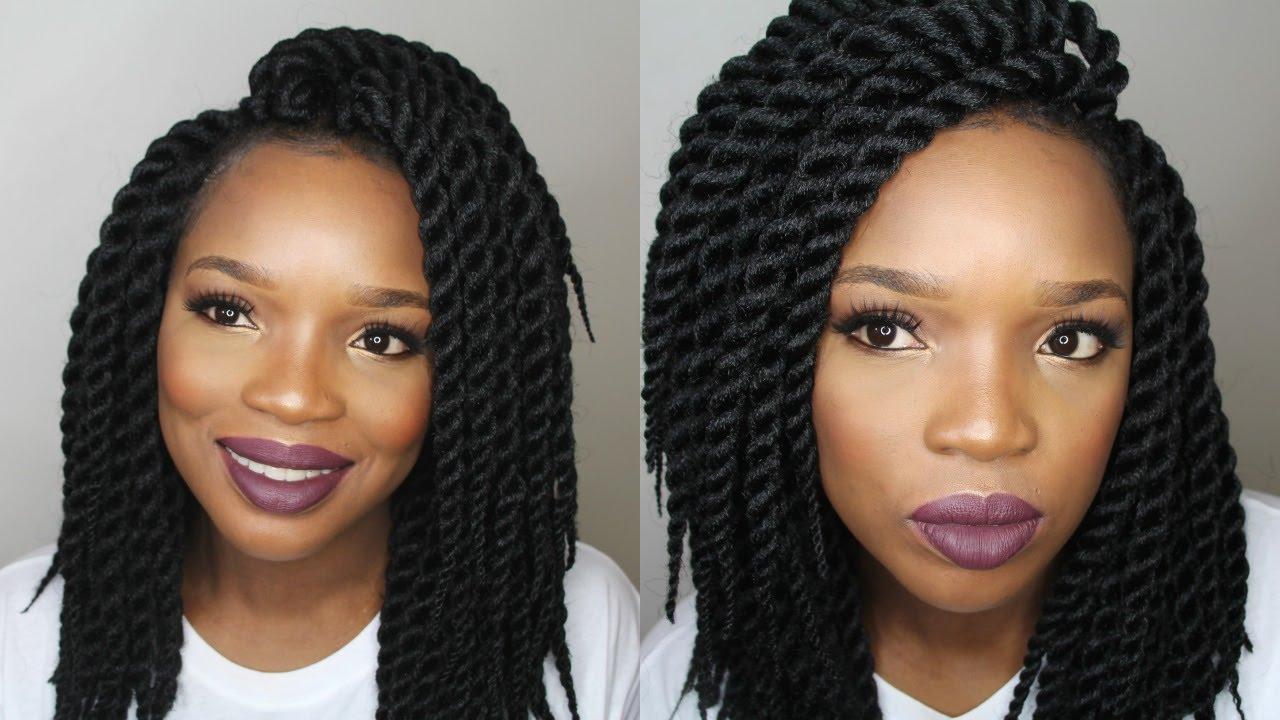 Crochet Hair Styles Diy : DIY : CROCHET BRAIDS TWIST - YouTube