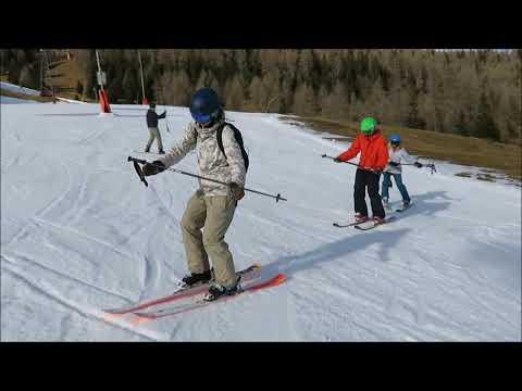 Ski balance exercises for intermediate or advanced beginner skiers