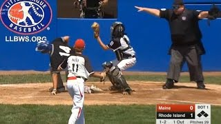 Kid Steals Home - inattentive catcher/pitcher during LLWS 2016